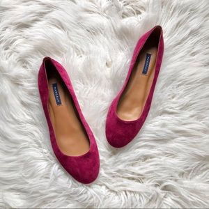 Margaux Classic Burgundy Suede Leather Ballet Flat